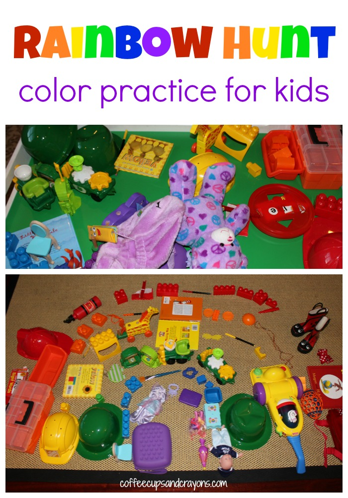 Practice Colors with a Rainbow Toy Hunt!