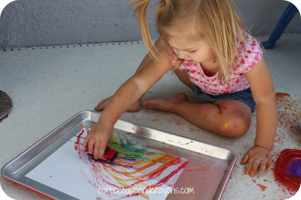 Rainbow Car Paintings: A FUN kids activity!!!