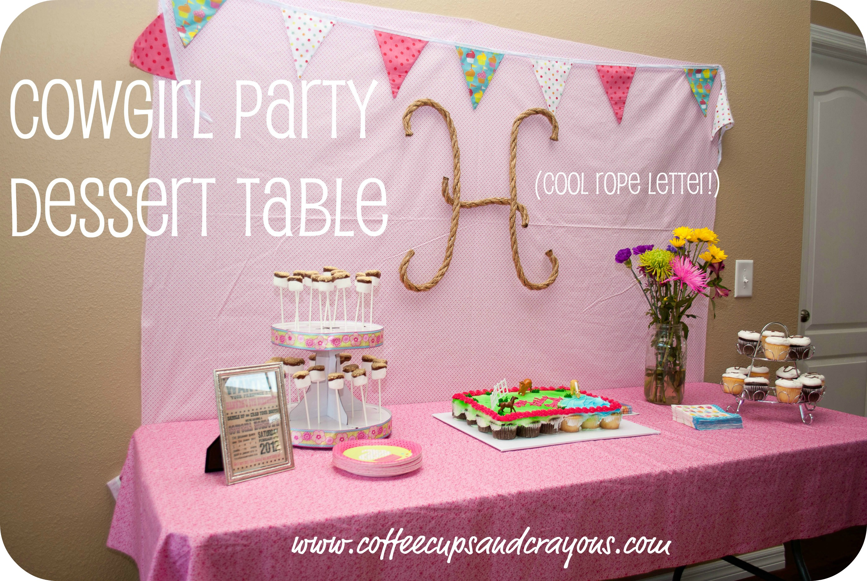 Cowgirl birthday party ideas coffee cups and crayons after filmwisefo