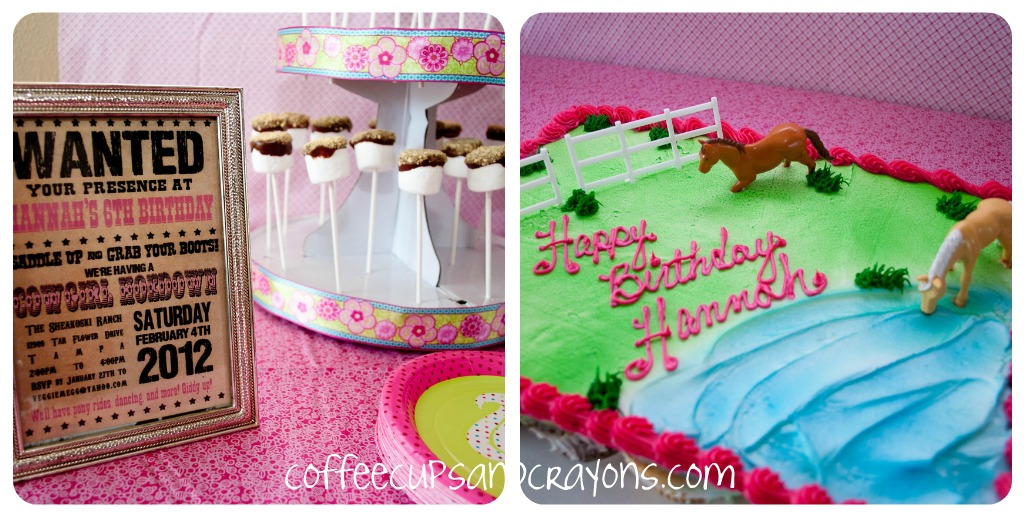 Cowgirl Birthday Party Ideas Coffee Cups And Crayons