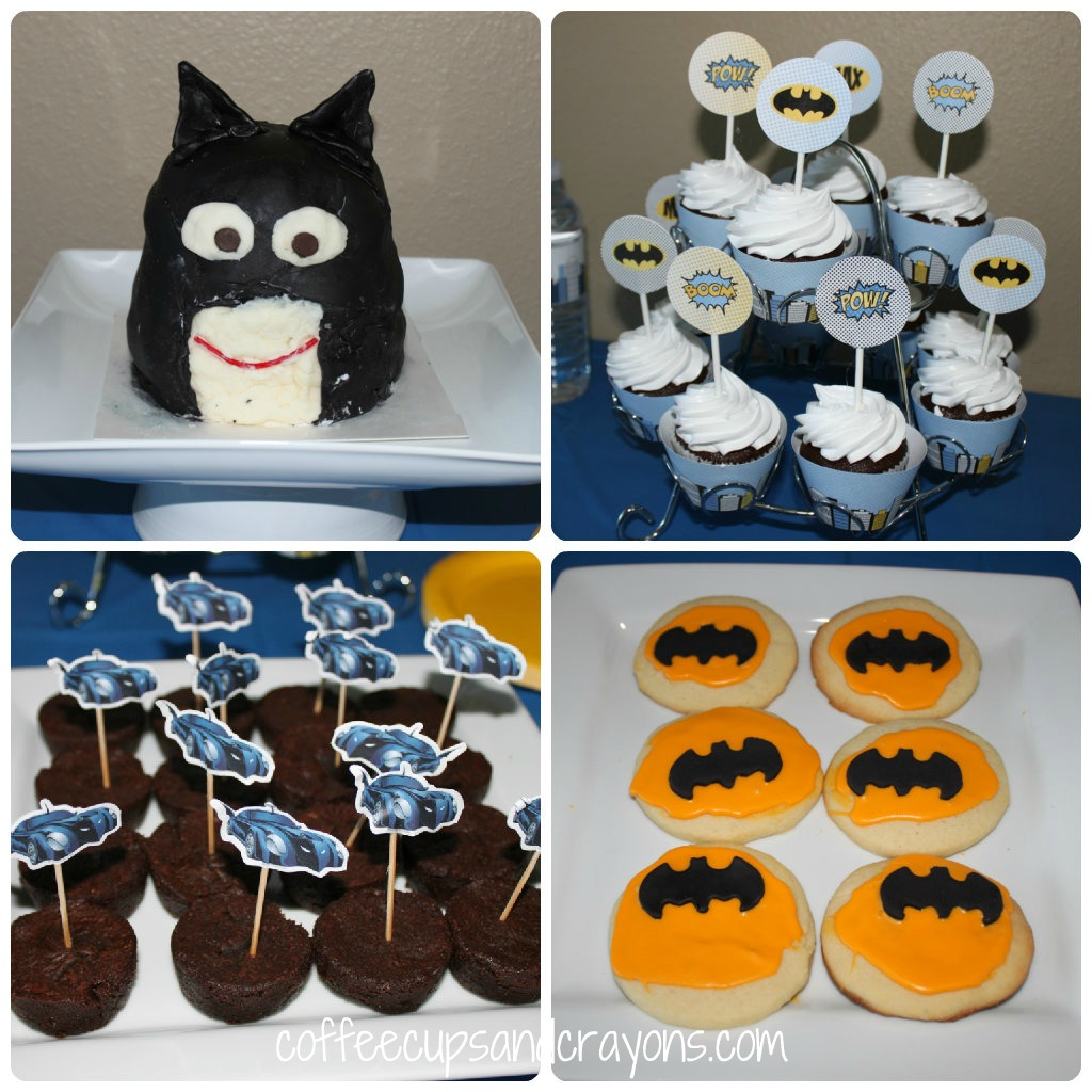 Batman Birthday Party Coffee Cups and Crayons