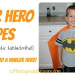 Go Orange for Hunger: Super Hero Capes