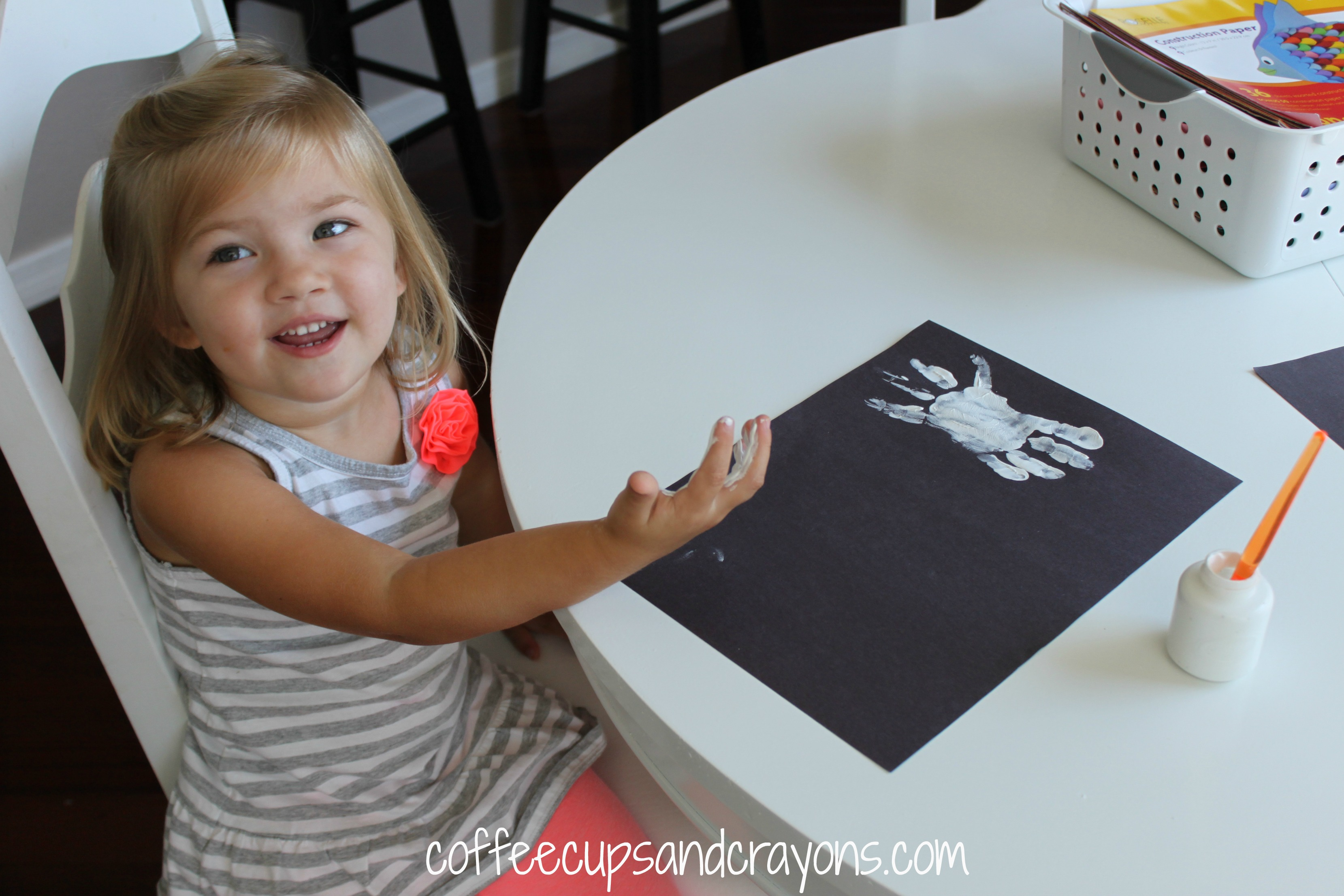 Handprint Kid Crafts For Halloween Coffee Cups And Crayons