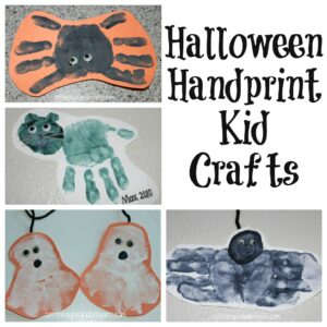 Halloween Handprint Kid Crafts