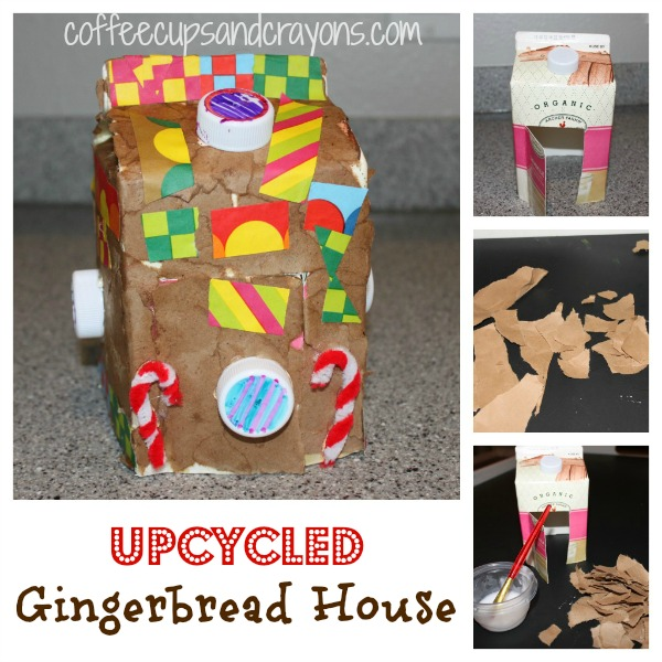Christmas Kids Craft: Upcycled Gingerbread House