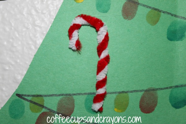 Candy Cane Pipe Cleaner Christmas Tree Ornament