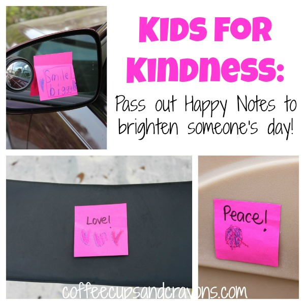 Acts of Kindness for Kids: Pass out Happy Notes