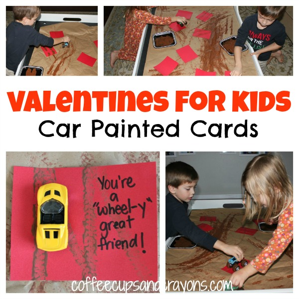 Car Painted You're a Wheel-y Great Friend Homemade Valentines for Kids