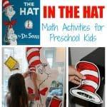 Cat in the Hat Math Activities for Preschool