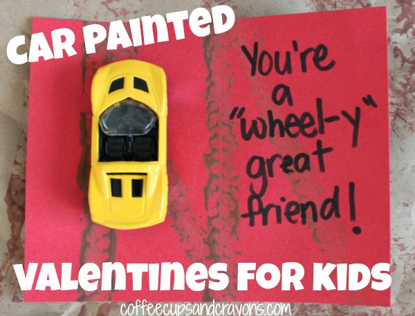 Car Painting Homemade Valentines for Kids