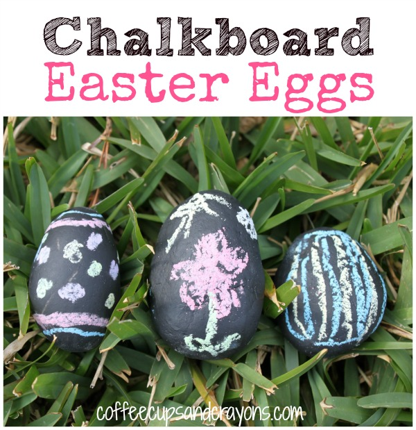 Chalkboard Easter Eggs for Kids from Coffee Cups and Crayons