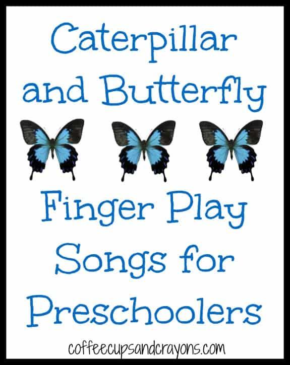 caterpillar song preschool caterpillar and butterfly finger play songs coffee cups 395