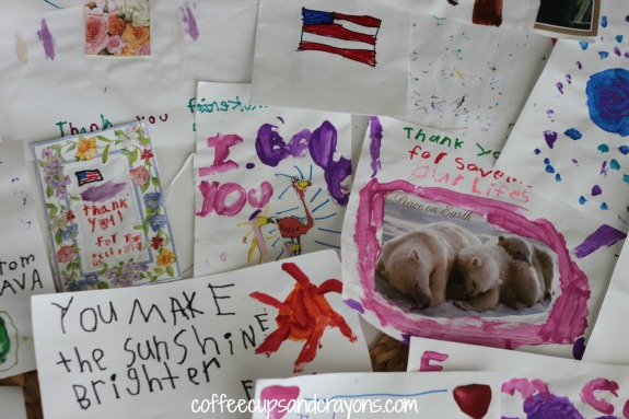 Cards for the Troops An Act of Kindness for Kids
