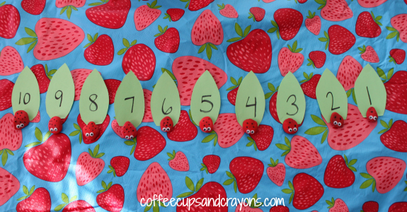 Math Game for Preschool:  Number Identification and Counting Busy Bag
