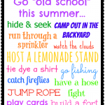 Old School Summer Bucket List