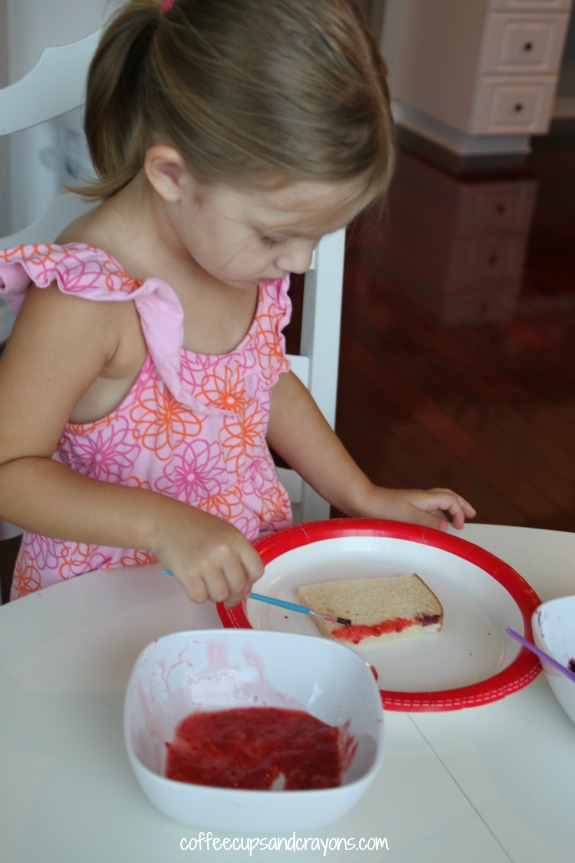 Fun and Healthy Kids Snack-- Paint on Toast with Fruit Paint!