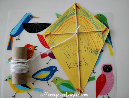 Homemade Construction Paper Kite