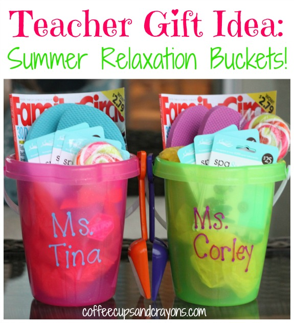 Teacher Gift Idea Summer Relaxation Bucket