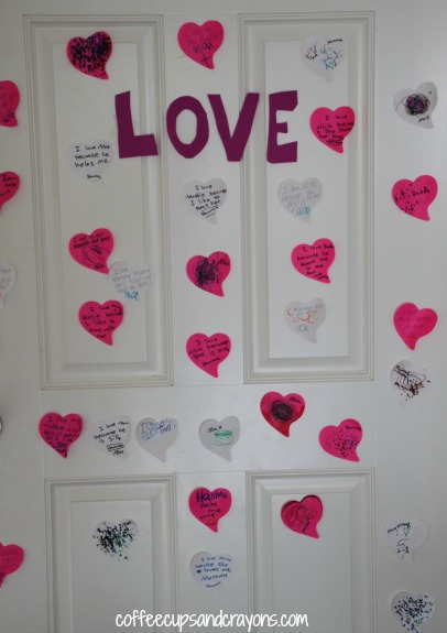 Act of Kindness for Kids...create a LOVE wall in your house!