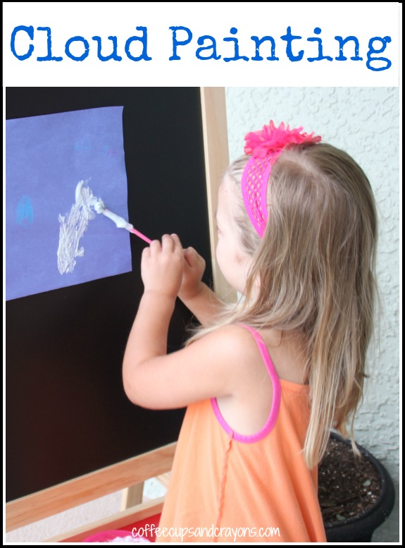 Cloud Painting! The prefect follow up activity to cloud watching. Use the cloud paint recipe to create 3-D fulffy clouds on paper!
