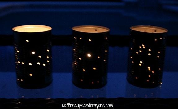 Craft For Kids Tin Can Lanterns
