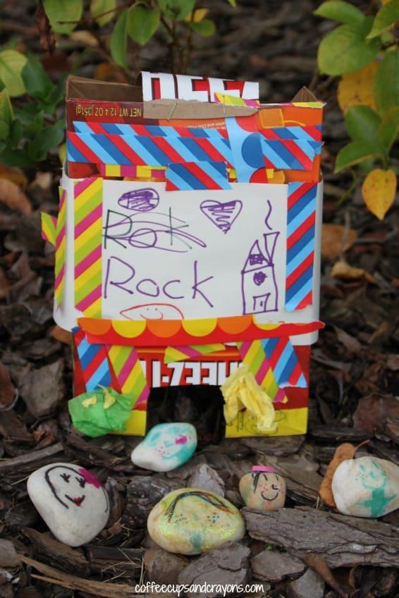 Kids Craft--Make Rock People!