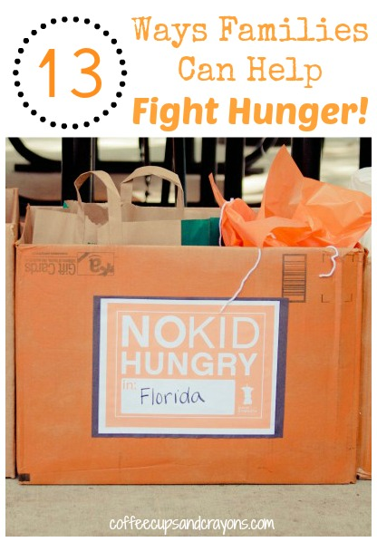13 Ways Families Can Help Fight Hunger!