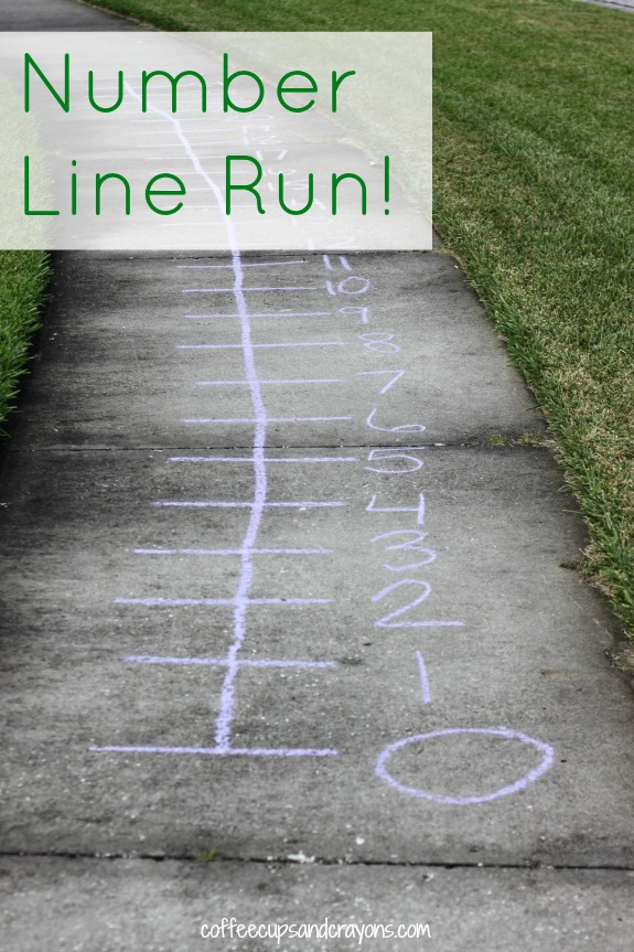 Number Line Run!  Math counting and addition game for kids!