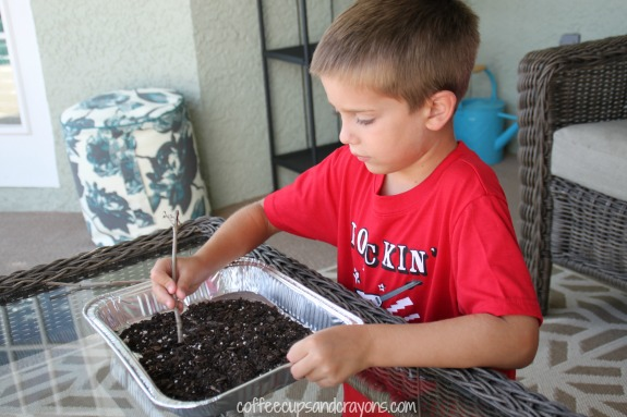 Practice Writing Letters in Dirt!