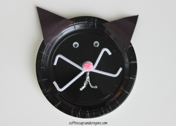 Black Cat Paper Plate Kids Craft & Kids Paper Plate Craft: Black Cat