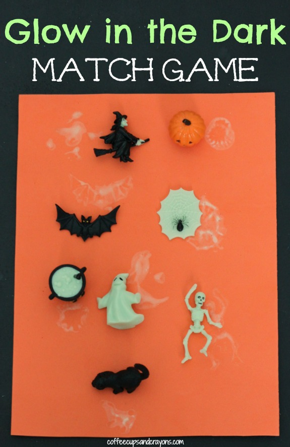 DIY Glow in the Dark Halloween Match Game for Kids