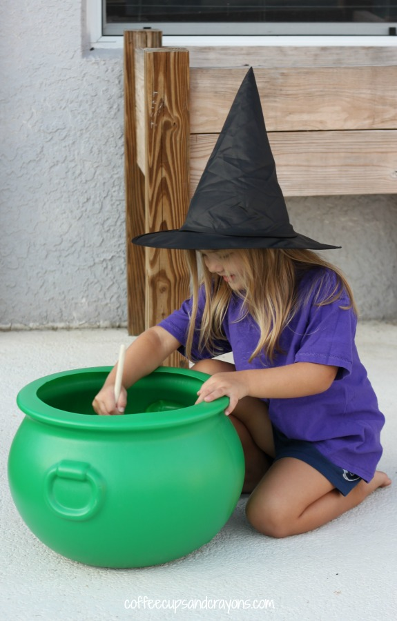 Make a Witch's Stew Halloween Sensory Bin for Kids to Explore!