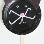 Kids Paper Plate Craft: Black Cat