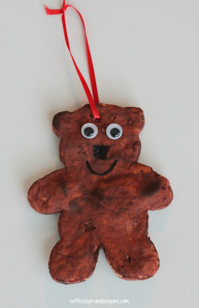 christmas book and bear ornament craft