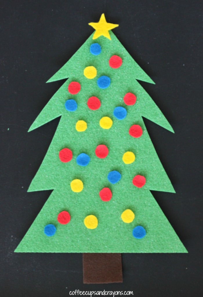 christmas tree decorating felt busy bag for kids