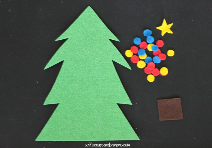 How to Make a Christmas Tree Felt Board Busy Bag
