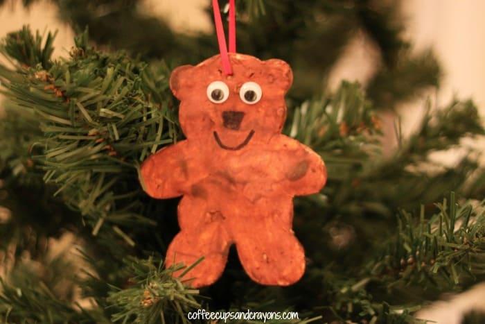 Salt Dough Bear Ornament Kids Craft