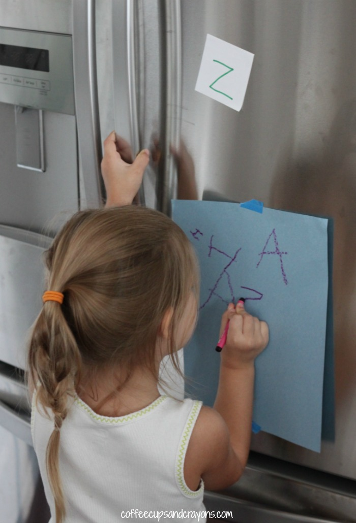 Letter and Writing Scavenger Hunt Activity for Kids!