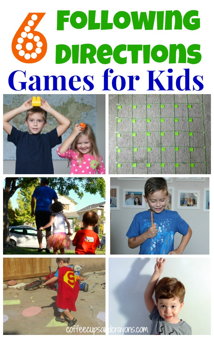 6 Following Directions Games for Kids | Coffee Cups and Crayons