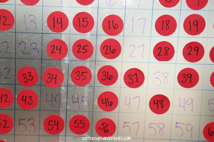 How to Make a Big Sticky Hundreds Number Chart for Math Practice