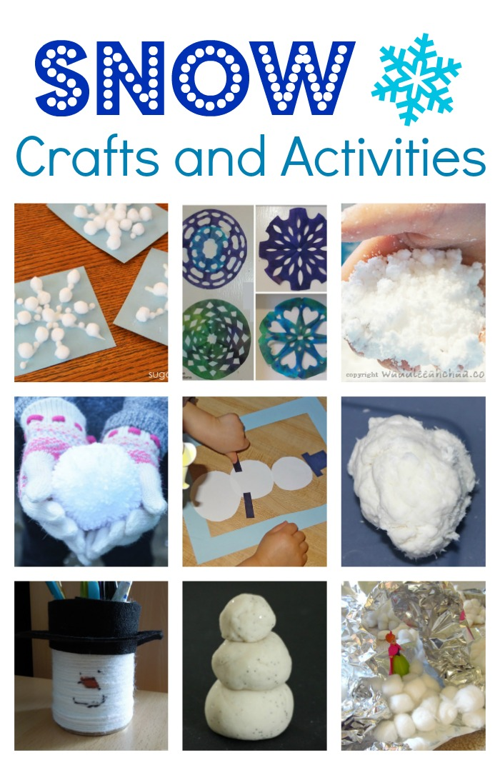 Snow Themed Crafts and Activities for Kids!