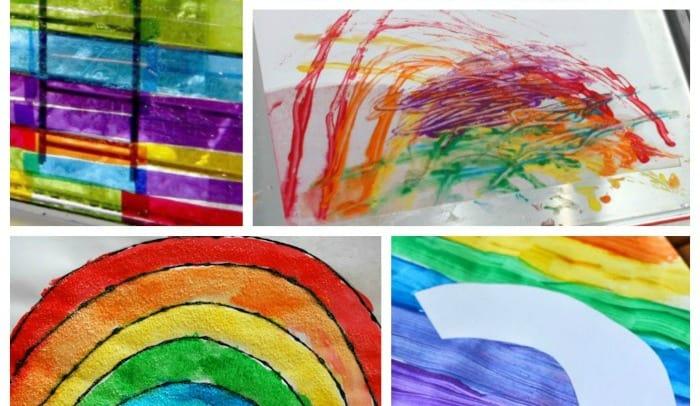 Rainbow Art Activities For Preschool