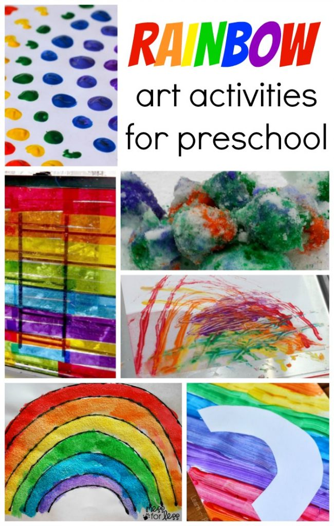Rainbow Art Activities for Preschool | Coffee Cups and Crayons