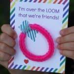 Rainbow Loom Valentines for Kids