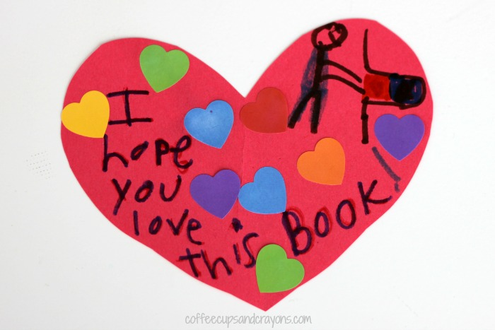 Leave a surprise note in a library book to make someone smile!