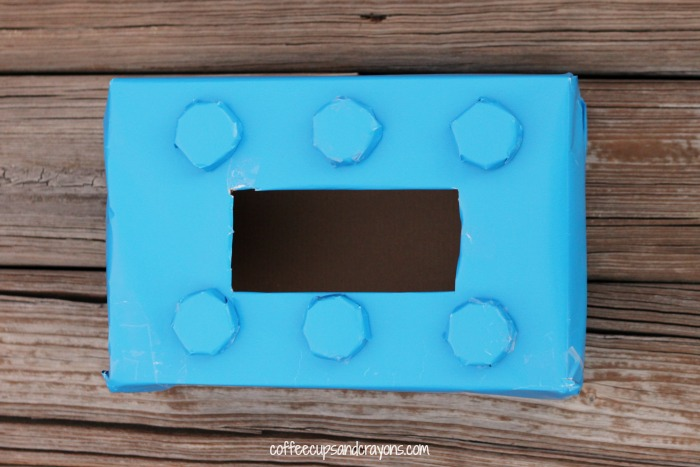 Lego Brick Inspired Valentine Box for Kids  Coffee Cups and Crayons
