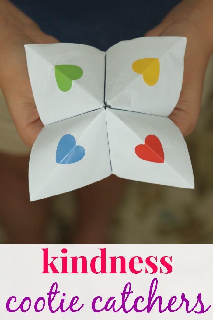 Make a Cootie Catcher Filled with Kindness Ideas!
