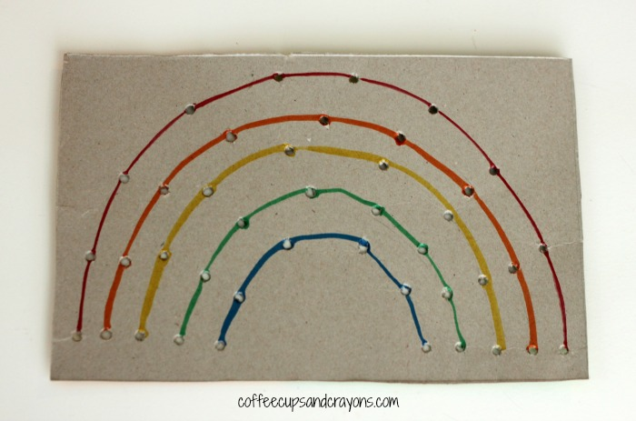 Rainbow Weaving Toy for Preschool