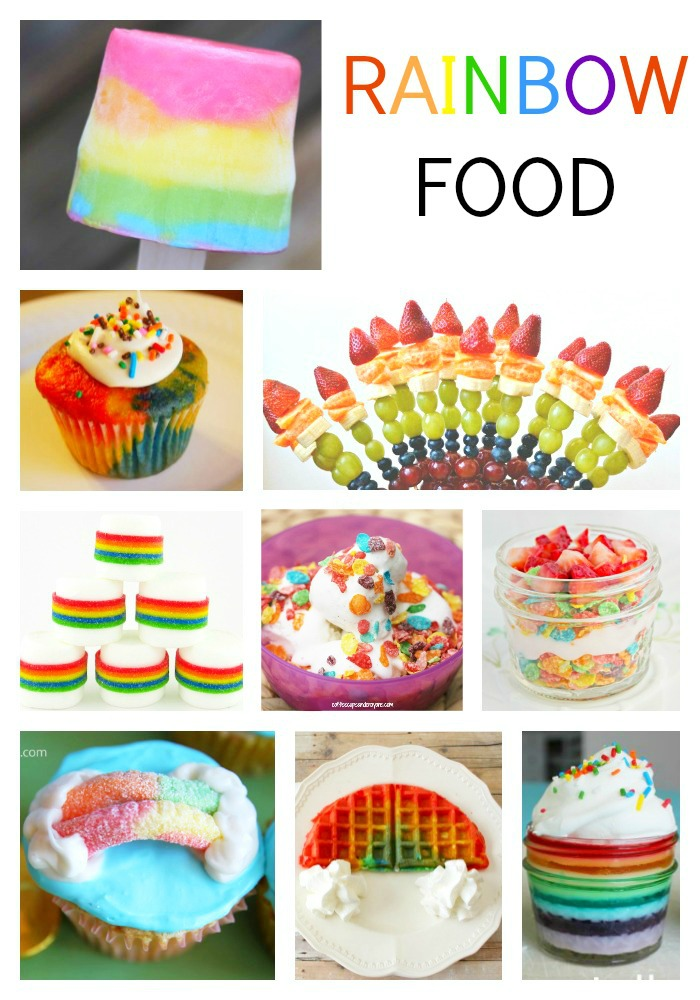 Rainbow Food Ideas for Kids! Fun for St. Patrick's Day!