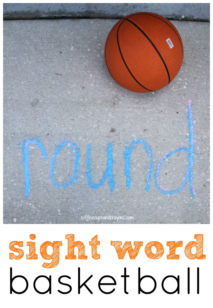 Sight Word Basketball! Get outside and move and learn!